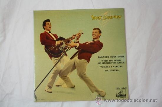 Discos de vinilo: Single Tony and Charley - Bailando Rock Twist - Editado La Voz de Su Amo 45 RPM - Foto 2 - 34361000