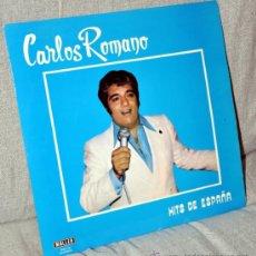 Discos de vinilo: CARLOS ROMANO - LP 12'' AUTOGRAFIADO - HITS DE ESPAÑA - 14 TRACK - EDITADO EN ESPAÑA - MALLER 1978. Lote 34375669