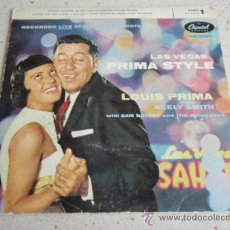 Discos de vinilo: LOUIS PRIMA ( THEM THERE EYES - HONEYSUCKLE ROSE - LOVE OF MY LIFE - TOO MARVELOUS FOR WORDS ) EP45. Lote 34382027