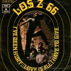 Discos de vinilo: LOS Z 66 - SINGLE VINILO 7'' - Z66 - EDITADO EN ESPAÑA - I'VE BEEN HURT + 1 - EMI ODEON 1970. Lote 34389334