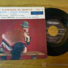 Discos de vinilo: LES CLASSIQUES DU MUSETTE - VOLUMEN 2 - JALOUISE / TANGO DES FAUVETTES/EL RELICARIO/ SOMBREROS ET M . Lote 34401040