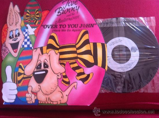 """7"""" JIVE BUNNY AND THE MASTERMIXERS-OVER TO YOU JOHN (Música - Discos - Singles Vinilo - Pop - Rock Extranjero de los 90 a la actualidad)"""