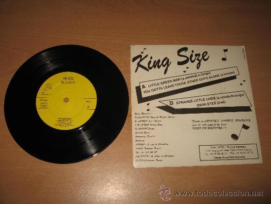 Discos de vinilo: EP KING SIZE .SFAX RECORDS 001 FRANCE - Foto 2 - 34407537