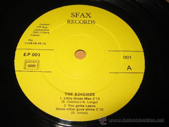 Discos de vinilo: EP KING SIZE .SFAX RECORDS 001 FRANCE - Foto 3 - 34407537