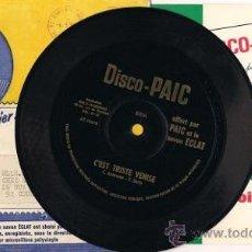 Discos de vinilo: DISCO FLEXIBLE FRANCÉS DE 1966 (C'EST TRISTE VENISE). Lote 34415220