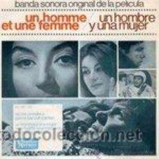 Discos de vinilo: NICOLE CROISILLE / PIERRE BAROUH - UN HOMBRE Y UNA MUJER -HOMME ET FEMME - ANOUK AIMEE - FRANCIS LAI. Lote 34426104