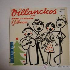 Discos de vinilo: SINGLE VILLANCICOS POR MANOLO ESCOBAR. Lote 34435330