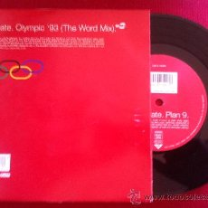 """Discos de vinilo: 7""""SINGLE-808 STATE-OLYMPIC'93(THE WORLD MIX). Lote 34446421"""