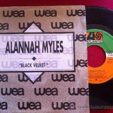 "Discos de vinilo: 7""SINGLE-ALANNAH MYLES-BLACK VELVET-PROMO. Lote 34446496"