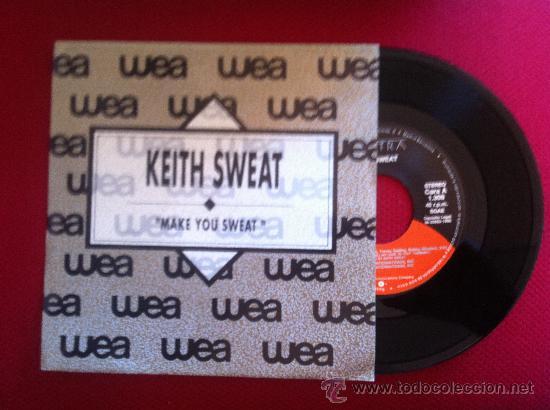 """7""""SINGLE-KEITH SWEAT-MAKE YOU SWEAT-PROMO (Música - Discos - Singles Vinilo - Pop - Rock Internacional de los 90 a la actualidad)"""