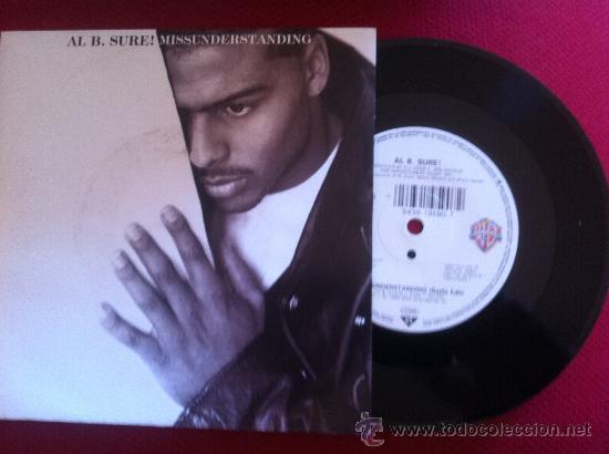 """7""""SINGLE-AL B.SURE!-MISSUNDERSTANDING (Música - Discos - Singles Vinilo - Pop - Rock Internacional de los 90 a la actualidad)"""