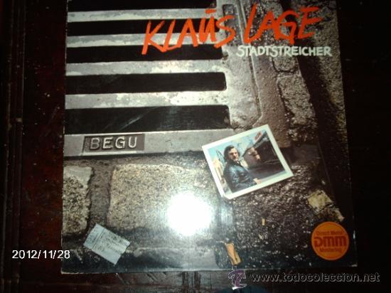 KLAUS LAGE - STADSTREICHER (Música - Discos - LP Vinilo - Pop - Rock - New Wave Extranjero de los 80)