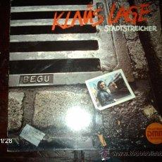 Discos de vinilo: KLAUS LAGE - STADSTREICHER. Lote 34458637