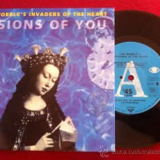 """Discos de vinilo: 7""""SINGLE-JAH WOBBLE'S INVADERS OF THE HEART-VISIONS OF YOU. Lote 34459158"""