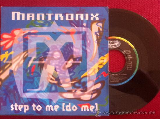 """7""""SINGLE-MANTRONIX-STEP TO ME (DO ME) (Música - Discos - Singles Vinilo - Pop - Rock Extranjero de los 90 a la actualidad)"""