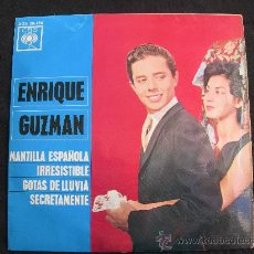 Discos de vinilo: EP ENRIQUE GUZMAN // MANTILLA ESPAÑOLA + 3. Lote 34467680