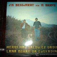 Discos de vinilo: J. N. BESSONART ETA M. BRAVE - HERRI HAU SALDU EZ DADIN LANA BEHAR DA EUSKADIN. Lote 34469116