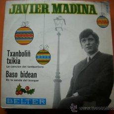 Discos de vinilo: SINGLE 45 RPM / JAVIER MADINA / TXANBOLIN TXIKIA -CANCION DEL TAMBORILERO PEPETO. Lote 34471448