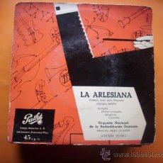 Discos de vinilo: LA ARLESIANA / PRIMERA SUITE PARA ORQUESTA /GEORGES BIZET/O.N.FRANCESA/EP PATHE. Lote 34475828