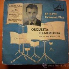 Discos de vinilo: .DIRECTOR IGOR MARKEVITCH ORQUESTA FILARMONIA EP LA VOZ DE SU AMO. Lote 34476234