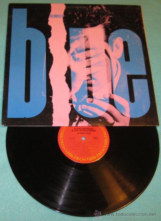 Discos de vinilo: ELVIS COSTELLO / almost blue 1981 ( GRAM PARSONS,HANK WILLIAMS..!! ORIG. EDIT. USA !! IMPECABLE !!!! - Foto 3 - 183343212