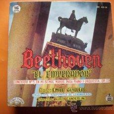 Discos de vinilo: BEETHOVEN-EL EMPERADOR /EP HISPAVOX HC 45-14 1961. Lote 34476394