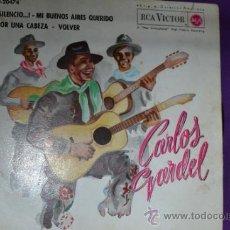 Discos de vinilo: VINILO DE CARLOS GARDEL, 4 CANCIONES-RCA VICTOR-1.962. Lote 35447491