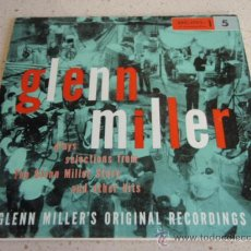 Discos de vinilo: GLENN MILLER PLAYS SELECTIONS FROM THE GLENN MILLER STORY PART 1, GERMANY 1956 EP RCA. Lote 34481235