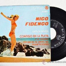 Discos de vinilo: NICO FIDENCO - CONTIGO EN LA PLAYA… ¡¡NUEVO!! (RCA EP 1964) ESPAÑA. Lote 34482558