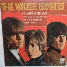 Discos de vinilo: THE WALKER BROTHERS WALKING IN THE RAIN + 3 SPANISH EP 1967. PHILIPS.. Lote 34483140