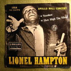 Discos de vinilo: LIONEL HAMPTON ...STARDUST -HOW HIGH THE MOON...1954 APOLLO HALL CONCERT...MUY RARO!!!. Lote 34488102