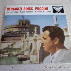 Discos de vinilo: CARLO BERGONZI WITH THE ORCHESTRA OF THE ACCADEMIA DI SANTA CECILIA, ROME ( RECONDITA ARMONIA - . Lote 34492114