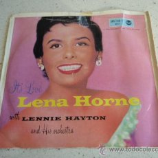 Discos de vinilo: LENA HORNE ( I'D DO ANYTHING - YOU DO SOMETHING TO ME - FRANKIE AND JOHNNY ) GERMANY EP45 RCA. Lote 34501620