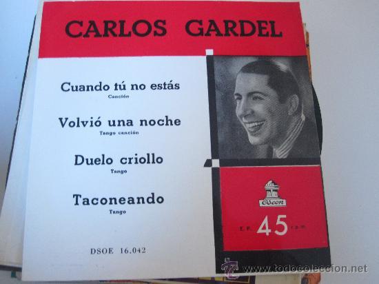 CARLOS GARDEL EP ODEON ED.ESPAÑOLA (Música - Discos de Vinilo - EPs - Grupos y Solistas de latinoamérica)