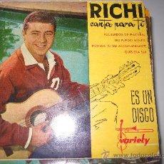 Discos de vinilo: RICHI EP VARIETY ED. ESPAÑOLA. Lote 34509489