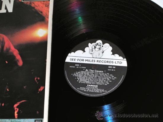 Discos de vinilo: LP EN DIRECTO CAVERN BEATLES LIVERPOOL SOUND BEAT EDITADO POR MILES U.K 1985 - Foto 2 - 34510177