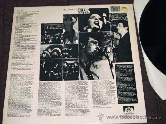 Discos de vinilo: LP EN DIRECTO CAVERN BEATLES LIVERPOOL SOUND BEAT EDITADO POR MILES U.K 1985 - Foto 3 - 34510177