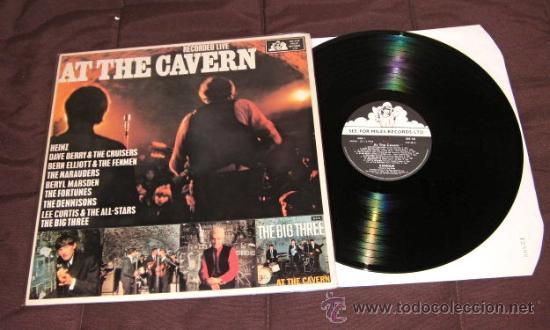 Discos de vinilo: LP EN DIRECTO CAVERN BEATLES LIVERPOOL SOUND BEAT EDITADO POR MILES U.K 1985 - Foto 6 - 34510177