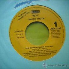 Discos de vinilo: NAKED TRUTH - READ BETWEEN THE LINES - SINGLE PROMOCIONAL ESPAÑOL DE 1992. Lote 34538625