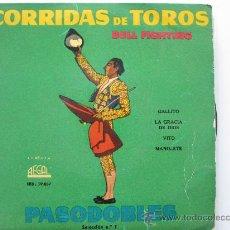 Discos de vinilo: PASODOBLES SEL.Nº1 CORRIDAS DE TOROS - REGAL 50'S. Lote 34524193
