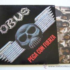 Discos de vinilo: OBUS. LP PEGA CON FUERZA. CHAPA DISCOS 1985. Lote 34526467