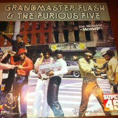Disques de vinyle: GRANDMASTER FLASH&THE FURIOUS FIVE - THE MESSAGE - MAXI-. Lote 34537863