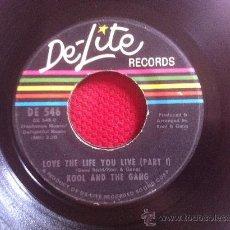 "Discos de vinilo: 7"" SINGLE-KOOL & THE GANG-LOVE THE LIFE YOU LIVE. Lote 34541232"