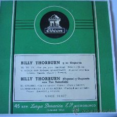 Discos de vinilo: BILLY THORBURN EP ODEON 50'S MSOE 31037. Lote 34556900