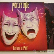 Discos de vinilo: MOTLEY CRUE. LP THEATRE OF PAIN. ELEKTRA 1985. EDICIÓN USA + MERCHANDISING ORIGINAL. Lote 21287451
