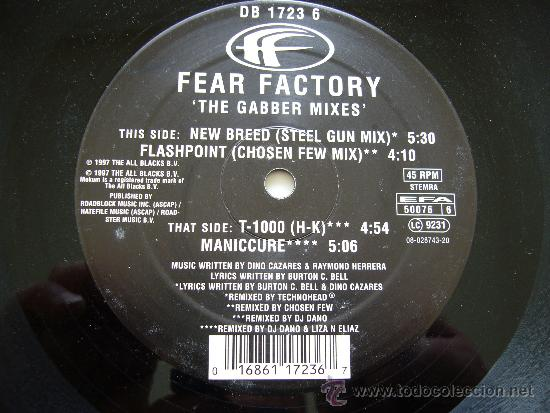 Discos de vinilo: Mokum 76 - Fear factory - The gabber mixes. The all blacks B.V. 1997 - Foto 2 - 25759829