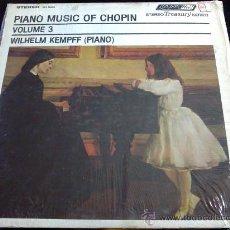 Discos de vinilo: PIANO MUSIC OF CHOPIN VOL.3 - WILHELM KEMPFF (PIANO). Lote 34578659