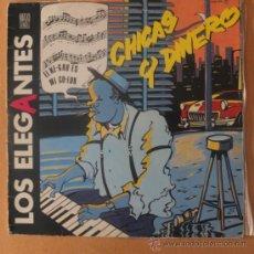 Discos de vinilo: LOS ELEGANTES-CHICAS Y DINERO-DISPARES-MAXI SINGLE 1985. Lote 34619466
