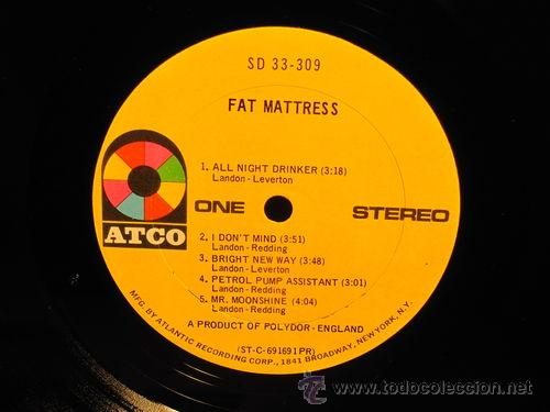 Discos de vinilo: FAT MATTRESS / fat mattress 69 - 1º LP - jimi hendrix, BLUES PSYCH-PROG. ORIG. EDIT USA !! EXC - Foto 5 - 47169749