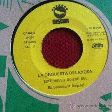 """Discos de vinilo: 7"""" SINGLE-LA ORQUESTA DELICIOSA-ESTE HUEVO QUIERE SAL. Lote 34600599"""
